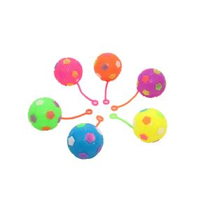 LED Flashing Bouncing Crystal Balls| Pack of 6| Birthday Return Gift Party Favor| Assorted Colours, multi
