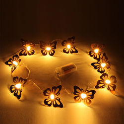 Decorative Butterfly Shape Fluorescent LED Light, metal, l 165cm,  copper