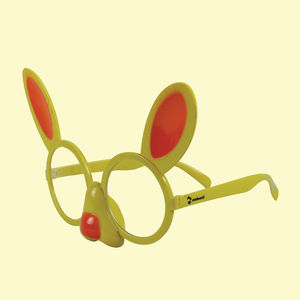 Fancy Rabbit Party Sun Glasses For Boy's And Girl's, plastic, 23   3   24 cm,  yellow