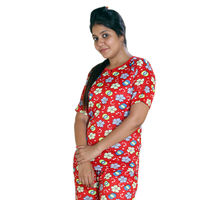 Nylon Printed T-shirt for Women, xxxl,  red
