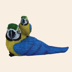 Unique Ceramic Colourful Parrot For Home Decor, polyresign, 12.5   5.5   8 cm,  blue