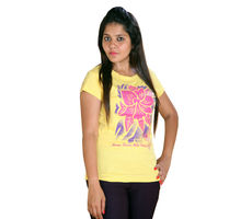 Yellow T-shirt for Women,  yellow
