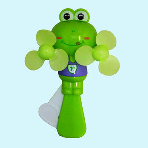 Cute Frog Portable Mini Fan Hand Press Cooling Fan Kids Toys, soft plastic, 19   14.5   5.5 cm,  purple