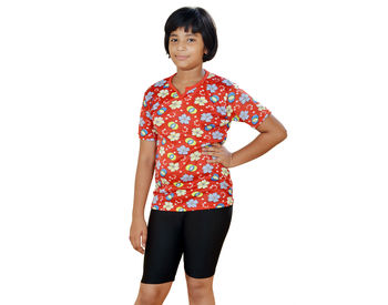 Red T-shirt With Slack for Girls