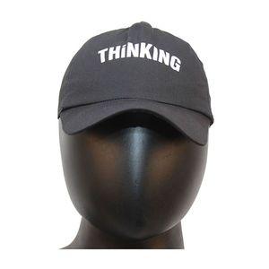 Fab5 Printed Thinking Slogan Velcro Cap (Black, Pack Of 1), black