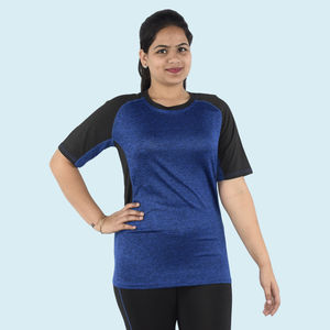 Premium Quality Knitted Light Weight Sports T-Shirt, 90  polyester and 10  spandex,  mid night blue, xxl