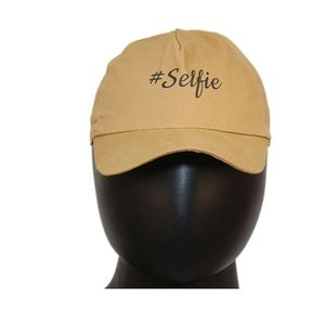 Fab5 Printed Selfie Slogan Velcro Cap (Khaki, Pack Of 1), khaki