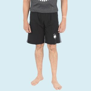 Black Printed Swimming Shorts for Men, 90  polyester and 10  spandex,  black, l