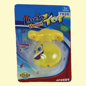 Happy Silly Flash Laser Spinning Top With LED Light, plastic, 20   12   6 cm,  yellow