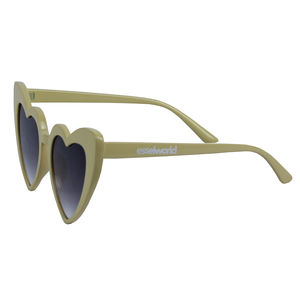 Heart Shape Fancy Sunglass, plastic, 14   3   7.5 cm,  cream