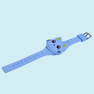 Wonderful 3D Cartoon Animal Led Digital Display Electric Watches For Kids, plastic, 24   2.5 cm,  blue