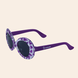 Zebra Print Purple Kids Fancy Sunglasses, plastic, 13.5   3   5 cm,  pink