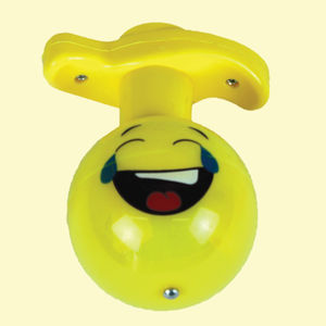 Face With Tears Of Joy Flash Laser Spinning Top With LED Light, plastic, 12   9   9 cm,  yellow