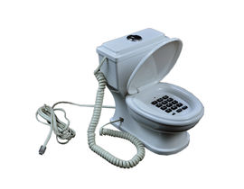 Toilet Shape Telephone Handset,  white