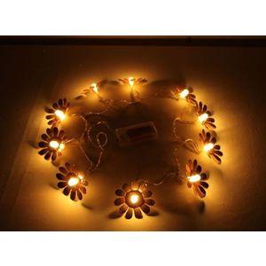Decorative Flower Shape Fluorescent LED Light,  copper, l 165cm, metal