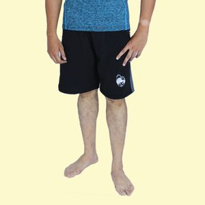 Black Printed Swimming Shorts for Men, 90  polyester and 10  spandex, xl,  blue
