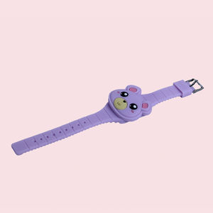 Wonderful 3D Cartoon Animal Led Digital Display Electric Watches For Kids, plastic, 24   2.5 cm,  purple