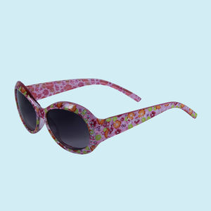 Floral Design Sunglasses For Kids Girls, plastic, 13.5   3   5 cm,  white