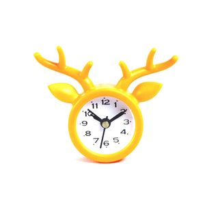 Decorative Deer Shape Table Clock,  orange, 8.3   2.2   7.1 cm, plastic