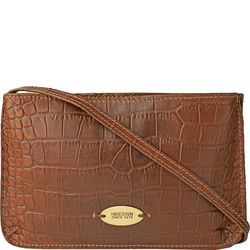 Claea W3 Women's Wallet, Croco,  tan