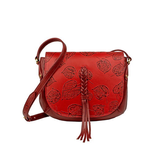 Meryl 01 Women s Handbag, E. I. Leaf Emboss Roma Split,  dark red