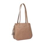 Rive Gauche 02 Women s Handbag, Baby Croco,  nude