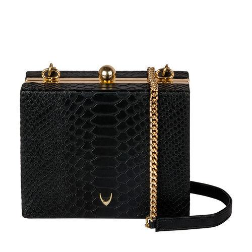 Hidesign X Kalki 3 A. M 01 Women s Handbag, Snake Ranch,  black