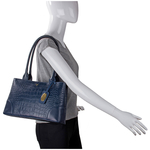 Berlin 02 Sb Women s Handbag, Croco Melbourne Ranch,  midnight blue