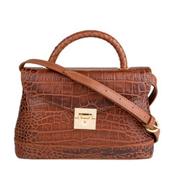 Epocca 03 Women's Handbag, Croco Melbourne Ranch,  tan