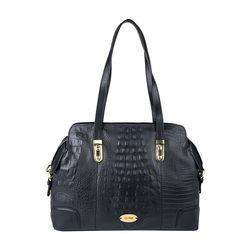 Harajuku 01 Handbag, baby croco,  black