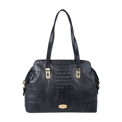 Harajuku 01 Women's Handbag, Baby Croco Ranch Melbourne,  black