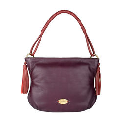 Nappa 02 Women's Handbag, Cow Deer Mel Ranch,  purple