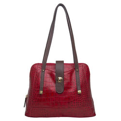 Atria 03 Women's Handbag Cement Croco,  red