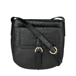 Rizzo 01Crossbody, baby croco,  black