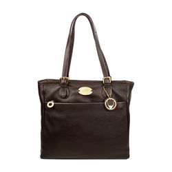 Lucia 01 Handbag, cow deer,  brown
