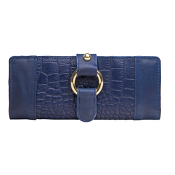 Nakasu W2 Women's Wallet, Croco Melbourne, croco,  blue