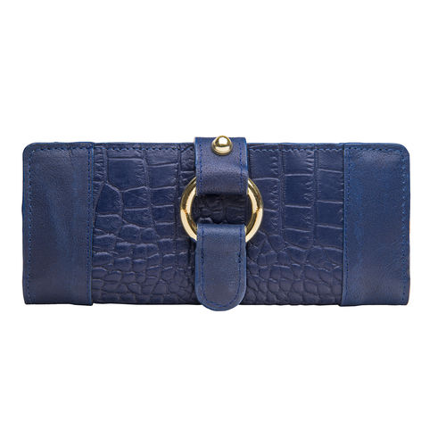 Nakasu W2 Women s Wallet, Croco Melbourne,  blue, croco