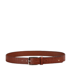 Ee Leanardo Men's Belt Glazed Croco Printed, 40,  tan