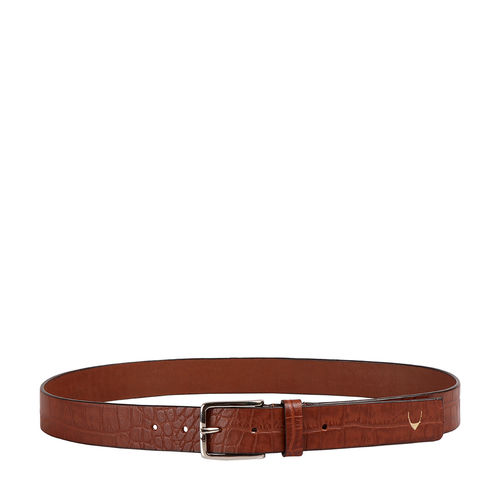 Ee Leanardo Men s Belt Glazed Croco Printed,  tan, 38