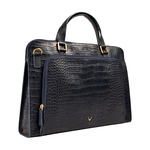 Biscotte 01 Women s Handbag, Croco Melbourne Ranch,  blue