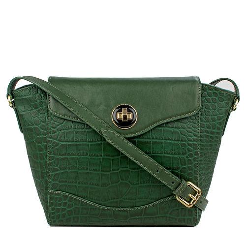 Sb Gisele 02 Women s Handbag, Croco Melbourne Ranch,  emerald green