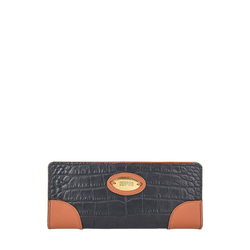 Saturn W1 Sb (Rfid) Women's Wallet, Croco Melbourne Ranch,  black