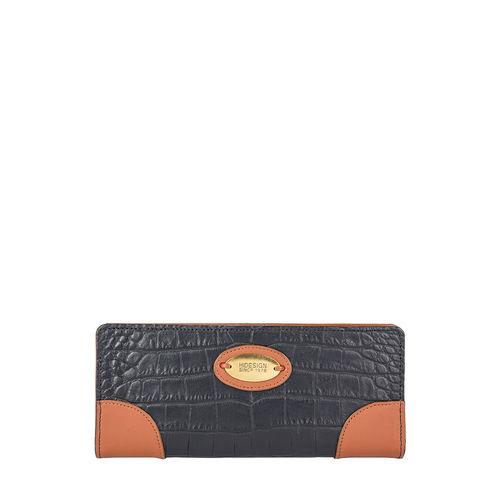 Saturn W1 Sb (Rfid) Women s Wallet, Croco Melbourne Ranch,  black
