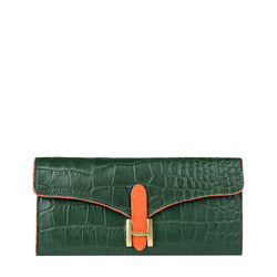 Ee Harper W1 Women's Wallet Croco,  emerald green