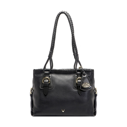 ASTRAKHAN WOMENS HANDBAG DEER,  black