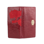 Rose W1 Women s wallet, Rose Emboss Mel Ranch Suede,  red
