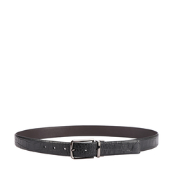 EMMANUEL MEN'S BELT CROCO, 34 36,  black