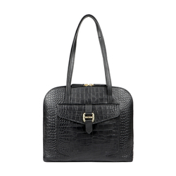 LOTUS 03 SB WOMENS HANDBAG CROCO,  black