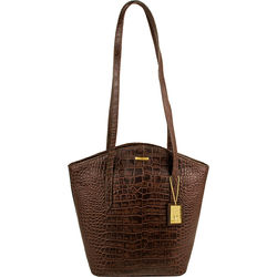 Bonn Handbag, embossed,  brown