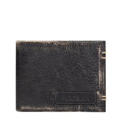 383-L107 MENS WALLET AFGHAN,  black